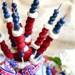 Red, White and Blue Fruit Kabobs #SundaySupper