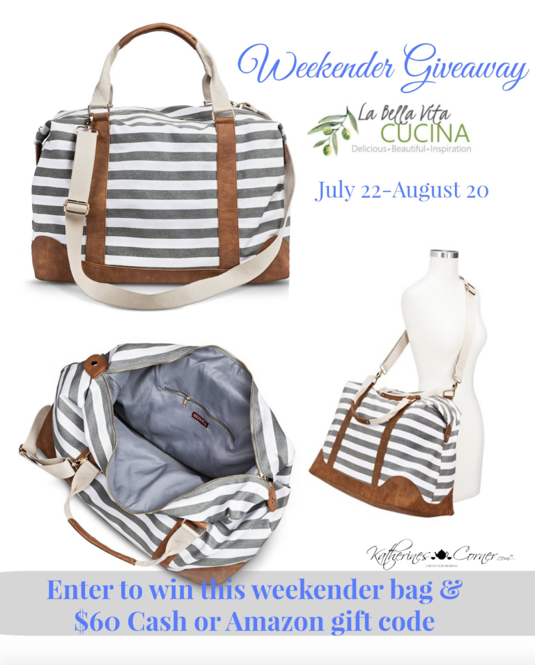 A Great Summer Giveaway: Weekender Bag Plus CASH