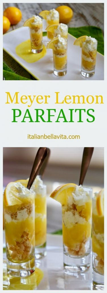 Mini Meyer Lemon Parfaits