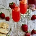 Strawberry Bellini for The Love of Cocktails Event in Las Vegas