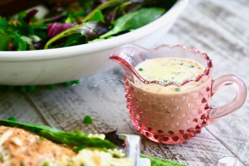 salmon peas asparagus pasta lemon cream