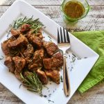 Italian Pork Ribs with Garlic Rosemary Sauce
