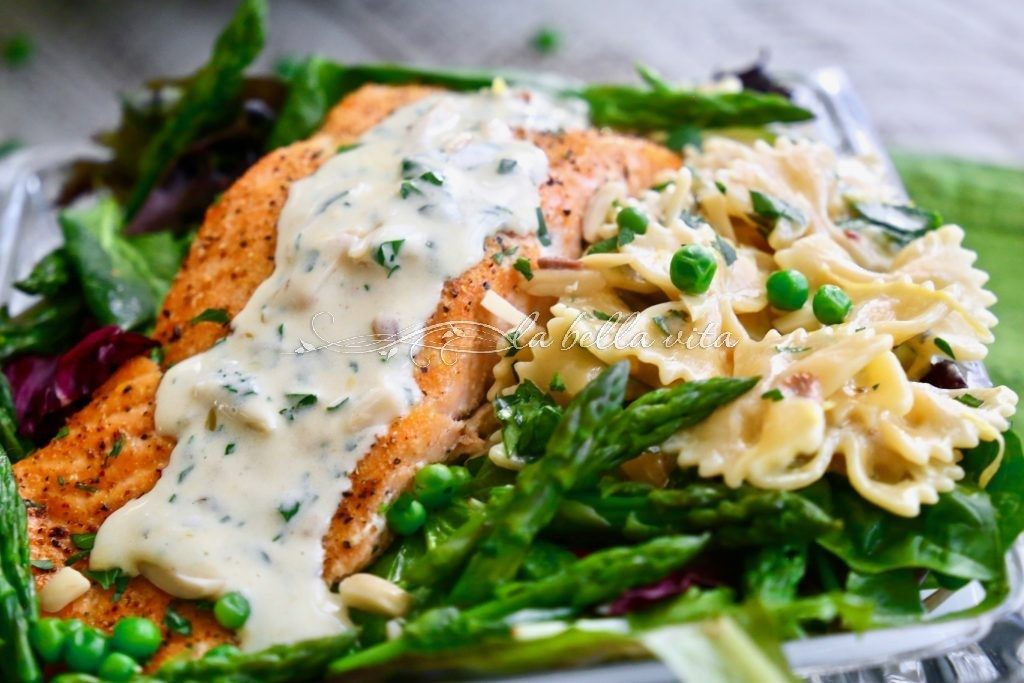 Salmon Salad with Lemon Cream Sauce