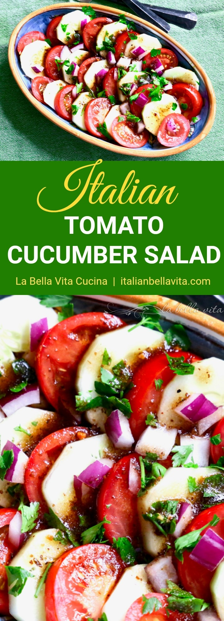 Classic Italian Tomato and Cucumber Salad