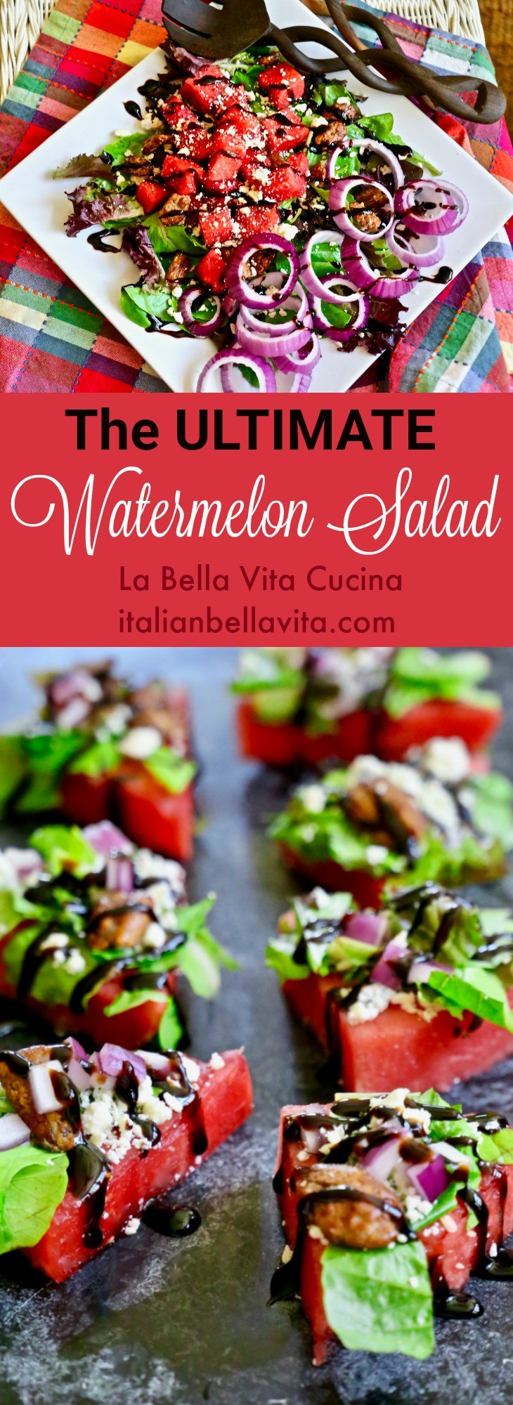 The Most Incredible Watermelon Salad