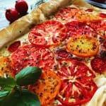 Heirloom Tomato and Italian Cheese Tart