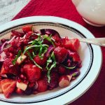 ULTIMATE Red Fruit Salad with Balsamic and Basil Vinaigrette