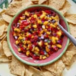 Perfect Peach Salsa that's Fast and Easy