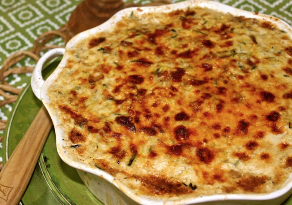 Cheesy Parmesan Zucchini and Rice Graten