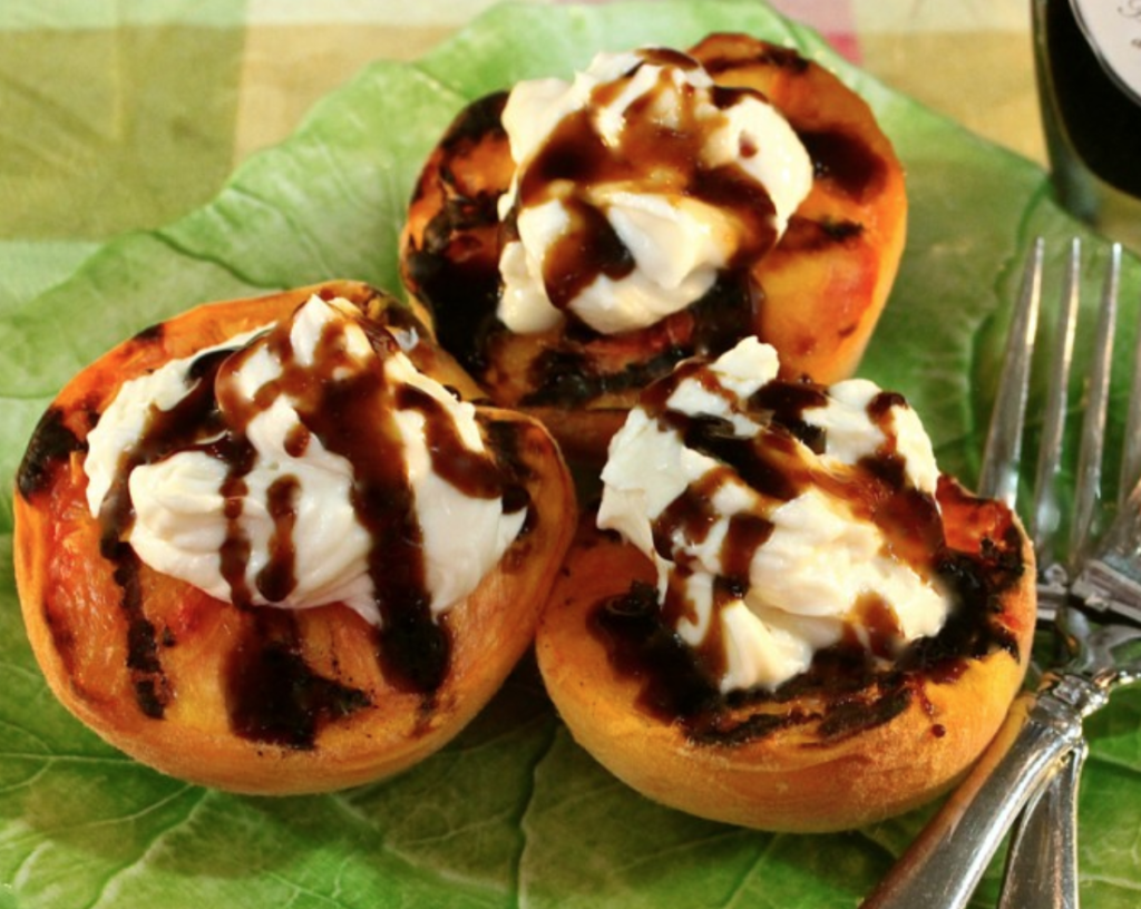 Grilled Peaches with Balsamic Syrup