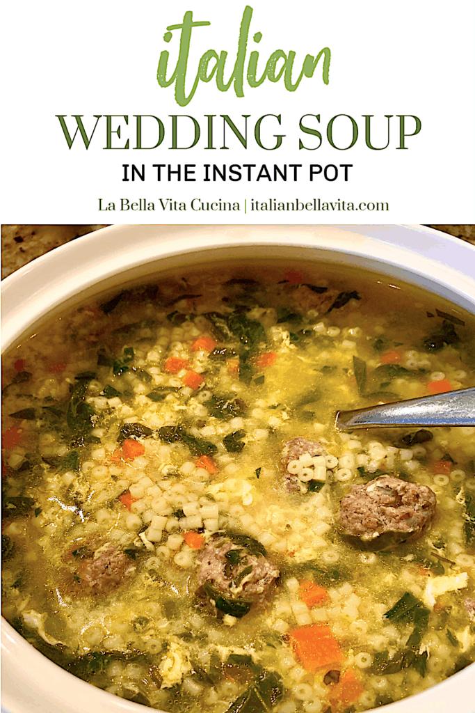Classic Italian Wedding Soup in Instant Pot